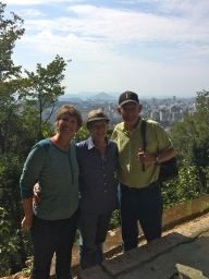 The view of Hiroshima City half way up to the Peace Pagoda.